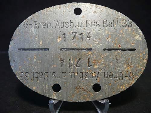 Erkennungsmarke Dog Tag EKM SS-Gren.Ausb.u.Ers.Btl 33, is it good?