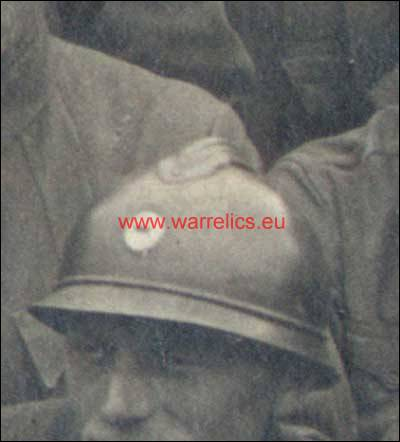 Helmets in Estonian Army- period pictures