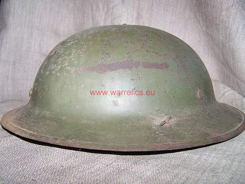 MK 1 English, Estonian re issued steel helmet