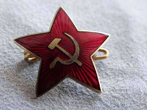 Estonian manufactured badge.