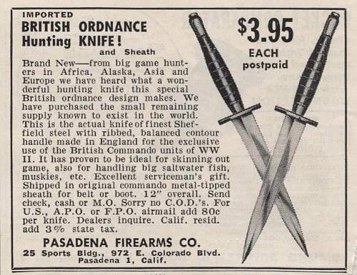 British Ordnance hunting knife