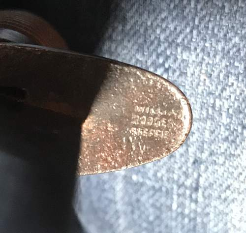 Battered 3rd pattern FS knife with unusual marks