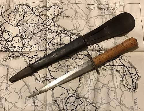 Unusual cork handled FS knife