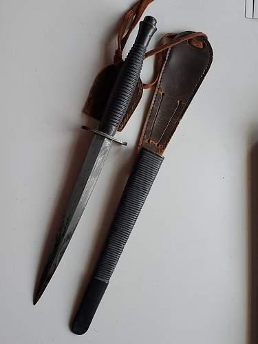Unusual scabbard for F-S dagger
