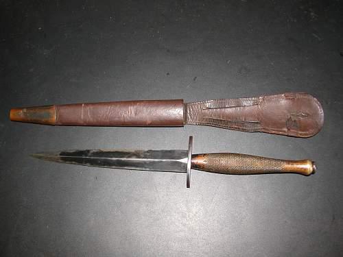 2nd PATTERN F.S. FIGHTING KNIFE MARKED B2