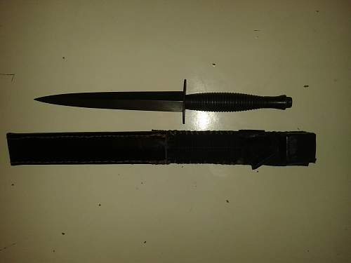 fairbairn-sykes fighting knife leather scabbard.