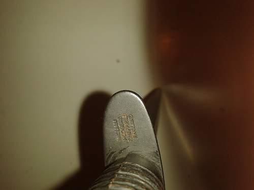 fairbairn-sykes fighting knife leather scabbard.