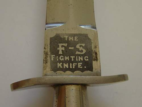 """1st pattern """"FS"""" Fighting knife with known history."""