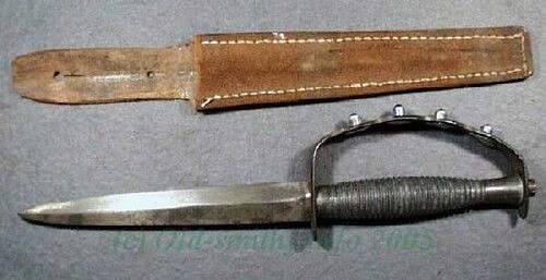 F-S knife with unusual grip