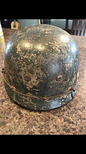 German paratrooper FJ camo helmet opinions