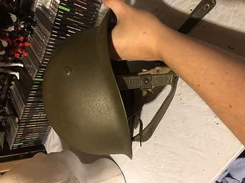 Cold War German paratrooper helmet strange helmet cover