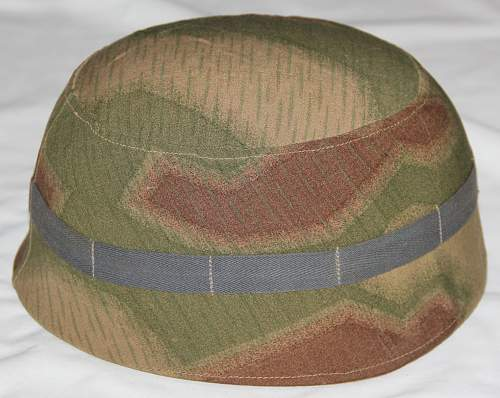 Tan Water Pattern Camouflage M38 Fallschirmjager Helmet Cover for Review