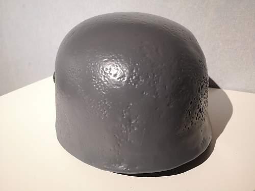 """Restored"" m38 helmet shell"