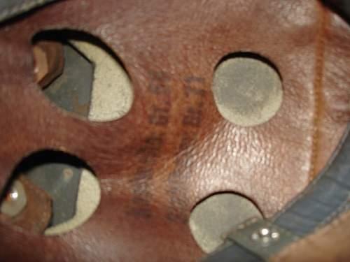 M38 Para helmet ckl77 lot number 6108 or something...