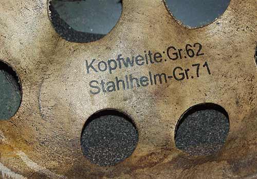 Fake FJ helmet with battlefield damage