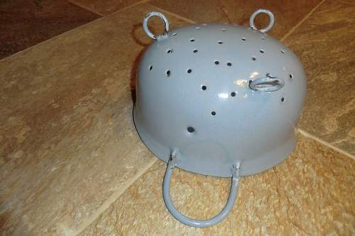 Light blue FJ helmet with a difference.