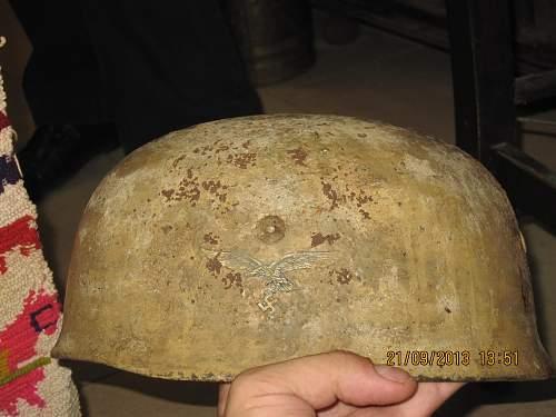 Fallschrimjager helmet found in Crete...