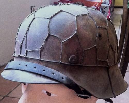 German camouflage hrlmet