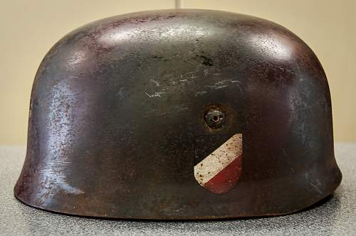 German Paratrooper helmet ET71 - more details