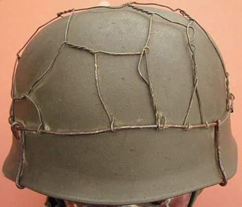 Fallschirmjagers helmet M-38 with chicken wire - eBay