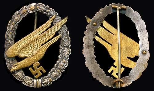This Fallschirmjager Badge good or fake