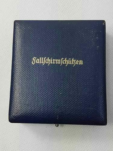 My first Fallschirmschutzenabzeichen Assmann cased, so excited!
