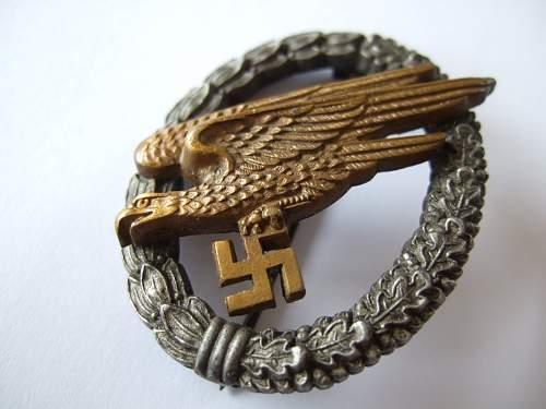 Osang Fallschirmschützenabzeichen.