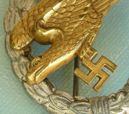 Thoughts on this GWL Fallschirmschützenabzeichen der Luftwaffe