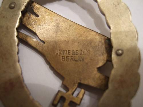 Fallschirmschützenabzeichen IMME & Sohn