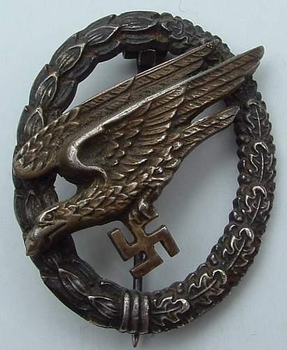 """Fallschirmjager Badge 'BSW"""""""