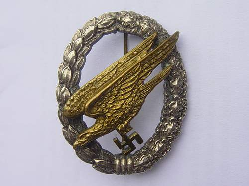Click image for larger version.  Name:Fallschirmjager badge 001.jpg Views:1949 Size:151.5 KB ID:4407
