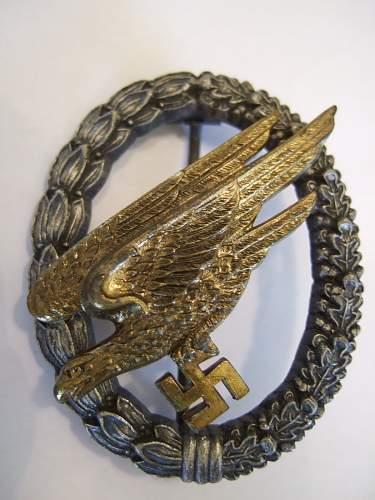 Osang Fallschirmjager badge.