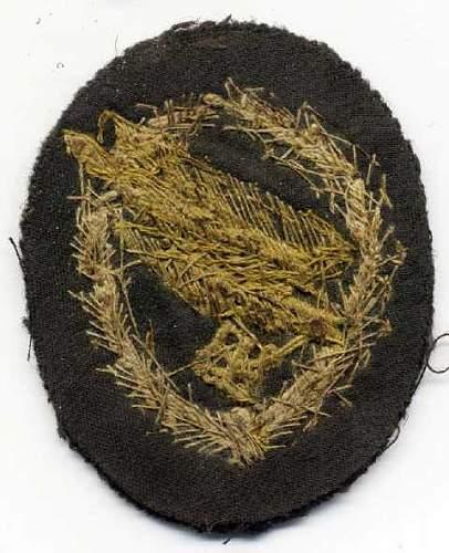 Fallschirmjager Bullion Cloth Qualification Abzeichen (Badge)