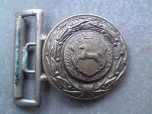Unknown Feuerwehr officer chrome brass  buckle