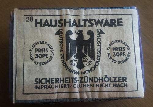 HAUSHALTSWARE: Deutsche Zündwaren - Monopolgesellschaft