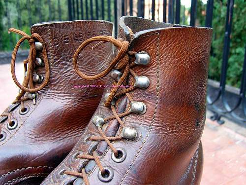 A guide to the German Footwear of WW2:(1) 1945-dated M37 Low Boot