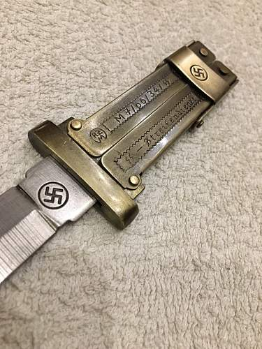 waffen ss knife butterfly knife value ? ? ? and is this original ?