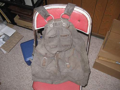 "Heavy duty backpack filled with ""stuff"""