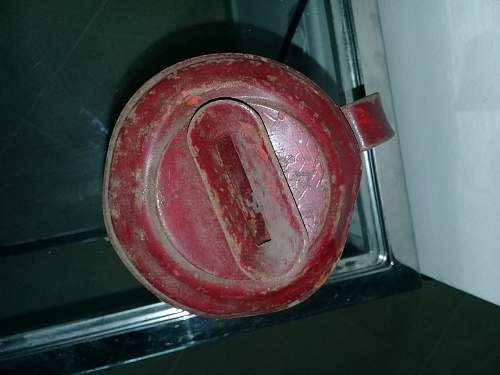 A tin can with a swastika ?