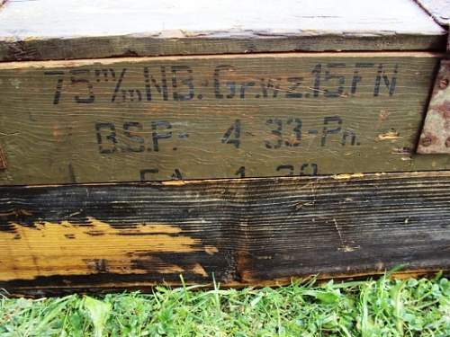 German ammo boxes 1943 dated.