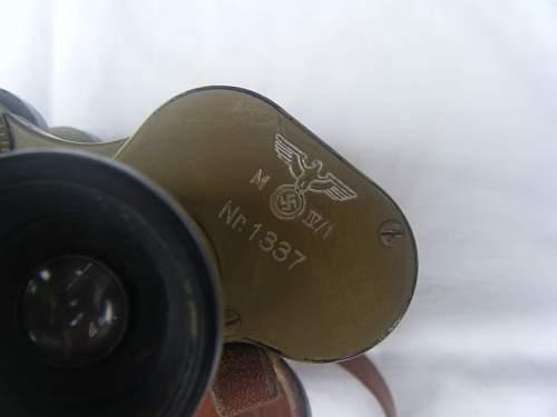 Carl Ziess Dienstglas (Tan) 6 X 30
