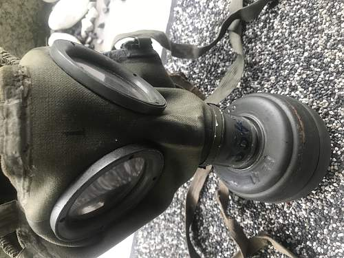 The Gasmask from 1937 with tornister