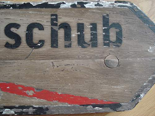 another wooden sign