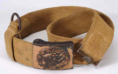Heer tropical belt buckle