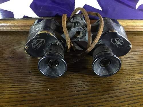 Fathers German Binoculars bring back.