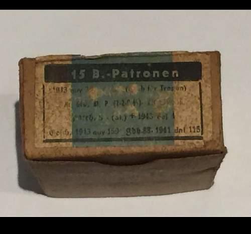 7,69X57 Ammo + Box Dated 1943
