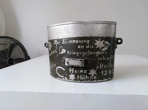 MN 44 & captured Italian Mess Kit from german Pow