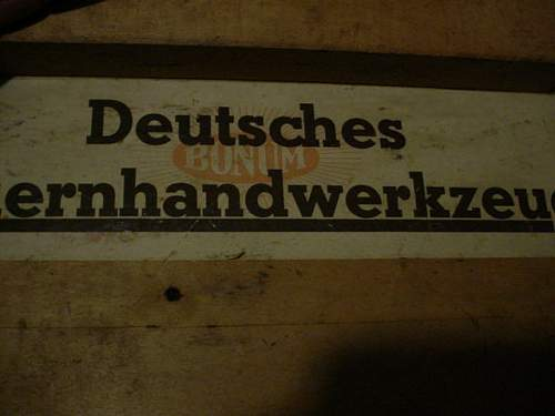Large tool box,nice markings,Hitler approved