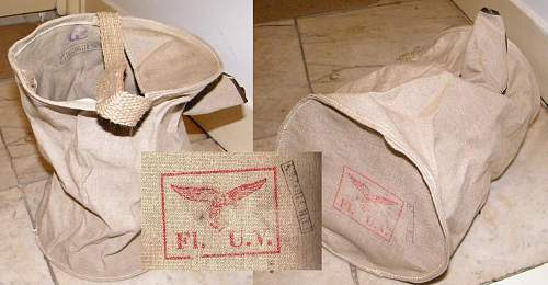 Luft tropical water carrier.  Rarely seen item, with fur tropen, RBNr. & FLUV stamps