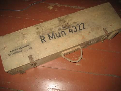 Nice ammo box for Panzerschreck